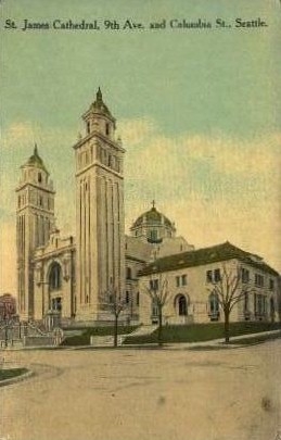 St. James Cathedral - Seattle, Washington WA Postcard