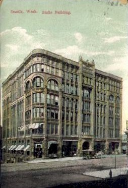 Burke Building - Seattle, Washington WA Postcard