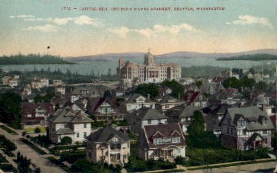 Capitol Hill  - Seattle, Washington WA Postcard