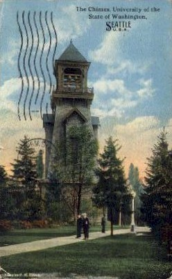 The Chimes University  - Seattle, Washington WA Postcard