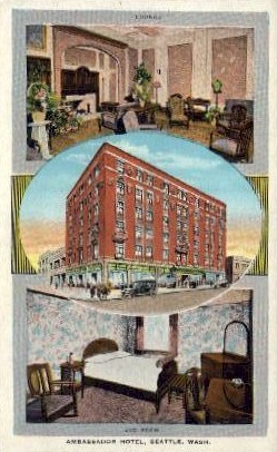 Ambassador Hotel - Seattle, Washington WA Postcard