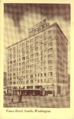 Vance Hotel - Seattle, Washington WA Postcard