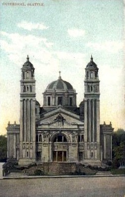 Cathedral - Seattle, Washington WA Postcard