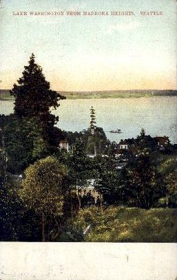 Lake Washington - Seattle Postcard