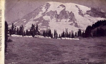 Camp of the Clouds - Seattle, Washington WA Postcard