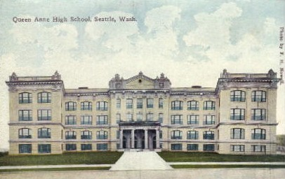 Queen Anne High School  - Seattle, Washington WA Postcard