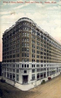 White And Henry Building - Seattle, Washington WA Postcard