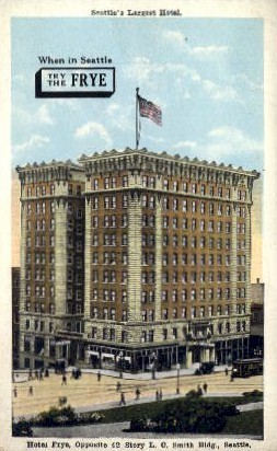 Seattle's Largest Hotel - Washington WA Postcard