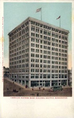American Savings Bank - Seattle, Washington WA Postcard