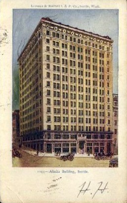 Alaska Building - Seattle, Washington WA Postcard