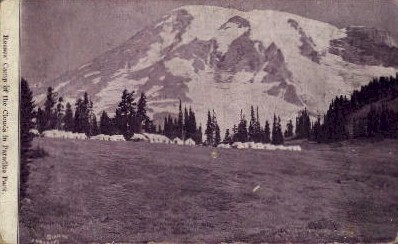 Reeses' Camp of the Clouds - Seattle, Washington WA Postcard