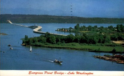 Evergreen Point Bridge - Seattle, Washington WA Postcard