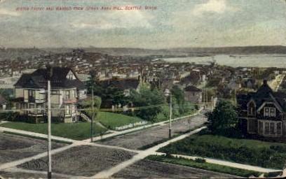 Water Front and Harbor - Seattle, Washington WA Postcard