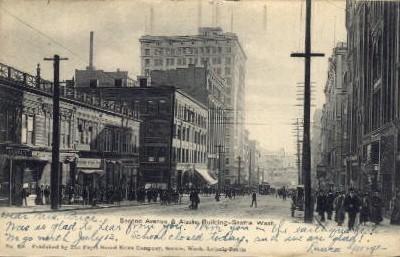 Alaska Building - Seattle, Washington WA Postcard