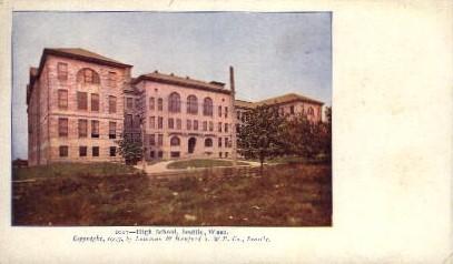 High School   - Seattle, Washington WA Postcard
