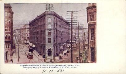 Intersection of Yesler Way - Seattle, Washington WA Postcard