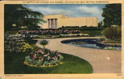Seattle Art Museum and Gardens - Washington WA Postcard