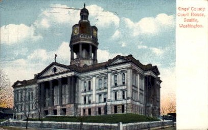 Kings' County Court House - Seattle, Washington WA Postcard