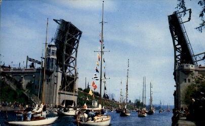 Montlake Bridge - Seattle, Washington WA Postcard