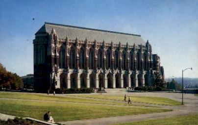 Library   - Seattle, Washington WA Postcard