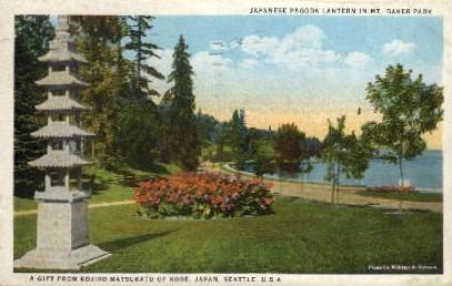 Mt. Baker Park - Seattle, Washington WA Postcard