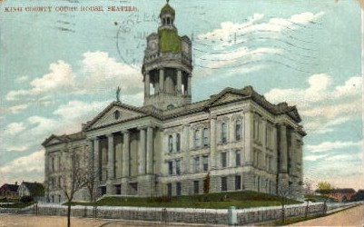 King County Court Houses - Seattle, Washington WA Postcard
