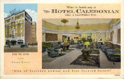 Hotel Caledonian - Seattle, Washington WA Postcard