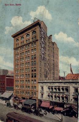 Hotel Savoy - Seattle, Washington WA Postcard