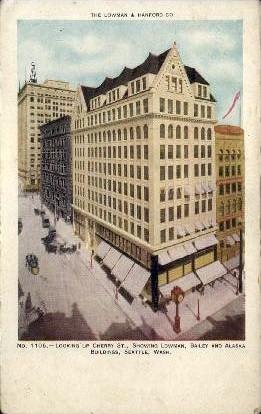 Lowman, Bailey, & Alaska Building - Seattle, Washington WA Postcard