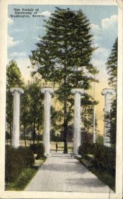 Portals of the University of Washington - Seattle Postcard