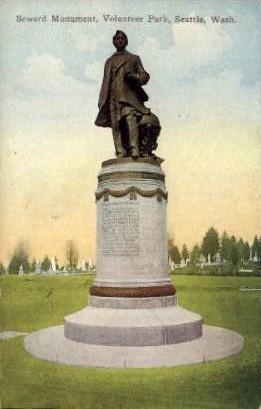 Seward Monument - Seattle, Washington WA Postcard