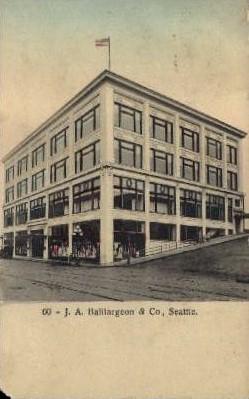 J.A. Baillargeon & Co. - Seattle, Washington WA Postcard