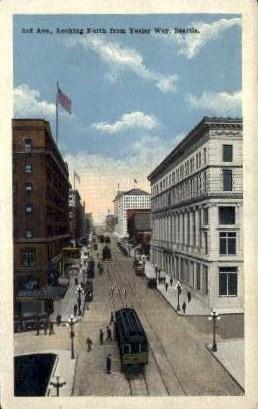 Third Avenue - Seattle, Washington WA Postcard