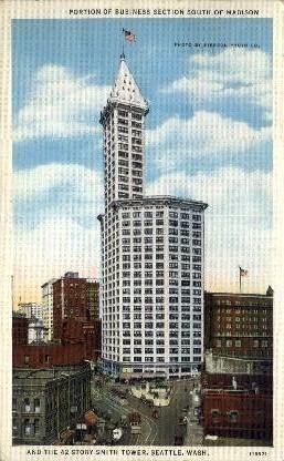 Smith Tower - Seattle, Washington WA Postcard