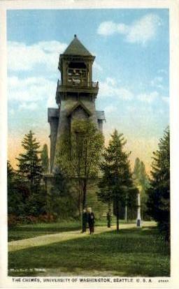 Chimes in University of Washington - Seattle Postcard