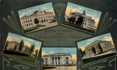 University Of Washington - Seattle Postcard