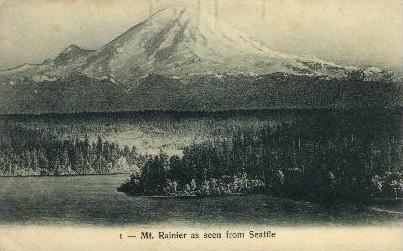 Mt. Ranier - Seattle, Washington WA Postcard