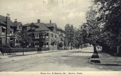 Boren Avenue and Madison Street - Seattle, Washington WA Postcard
