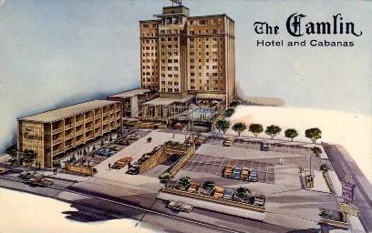 The Camlin Hotel & Cabanas - Seattle, Washington WA Postcard