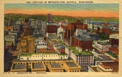 Metropolitan Seattle - Washington WA Postcard