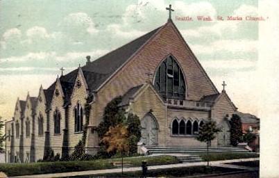 St. Marks Church - Seattle, Washington WA Postcard