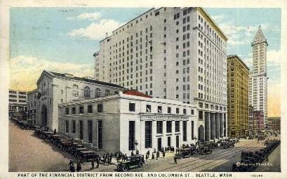 Financial District - Seattle, Washington WA Postcard