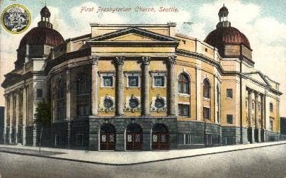 First Presbuterian Church - Seattle, Washington WA Postcard