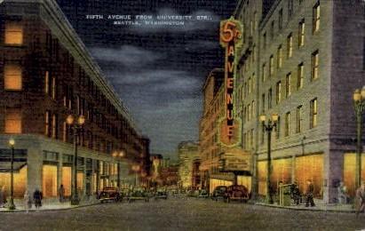 Fifth Avenue - Seattle, Washington WA Postcard