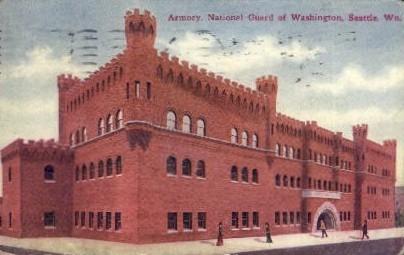 Armory, National Guard of Washington - Seattle Postcard