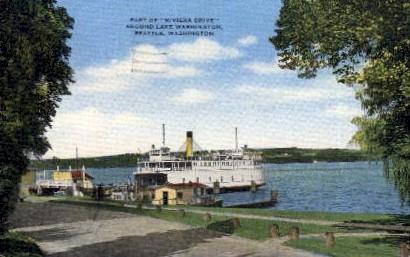 Riviera Drive Around Lake Washington - Seattle Postcard