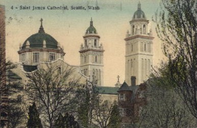 St. James Cathedral - Seattle, Washington WA Postcard