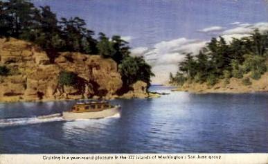 San Juan Islands - Seattle, Washington WA Postcard