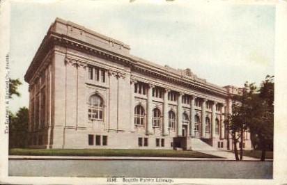 Public Library - Seattle, Washington WA Postcard