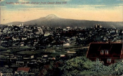 Queen Anne Hill - Seattle, Washington WA Postcard